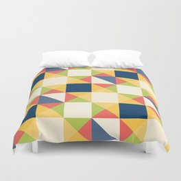 Colorful Triangle Pattern Duvet Cover
