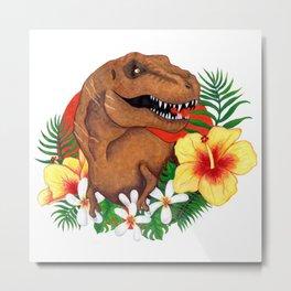 Tropical Dino Metal Print