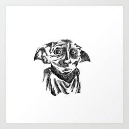 Dobby-The Hero Art Print