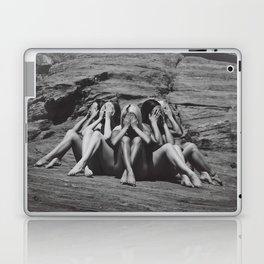 Desert Sirens (black and white) Laptop & iPad Skin