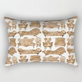 Victorian Lounge – Sepia Palette Rectangular Pillow