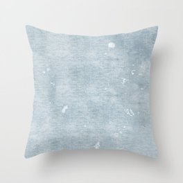 distressed chambray denim Throw Pillow