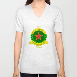YPJ, Women's Protection Units Unisex V-Neck