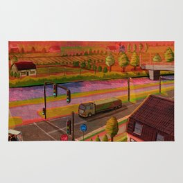 sunset in holland Rug