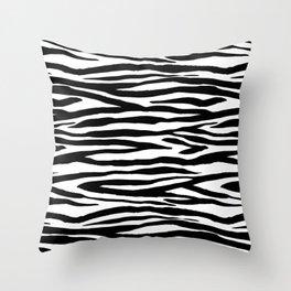 Zebra StripesPattern Black And White Throw Pillow