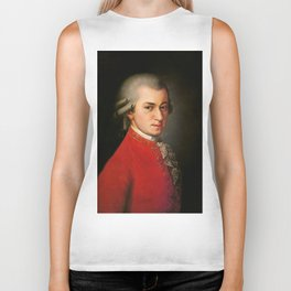 Wolfgang Amadeus Mozart (1756 -1791) by Barbara Krafft (1819) Biker Tank