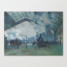 Claude Monet - Arrival of the Normandy Train Canvas Print