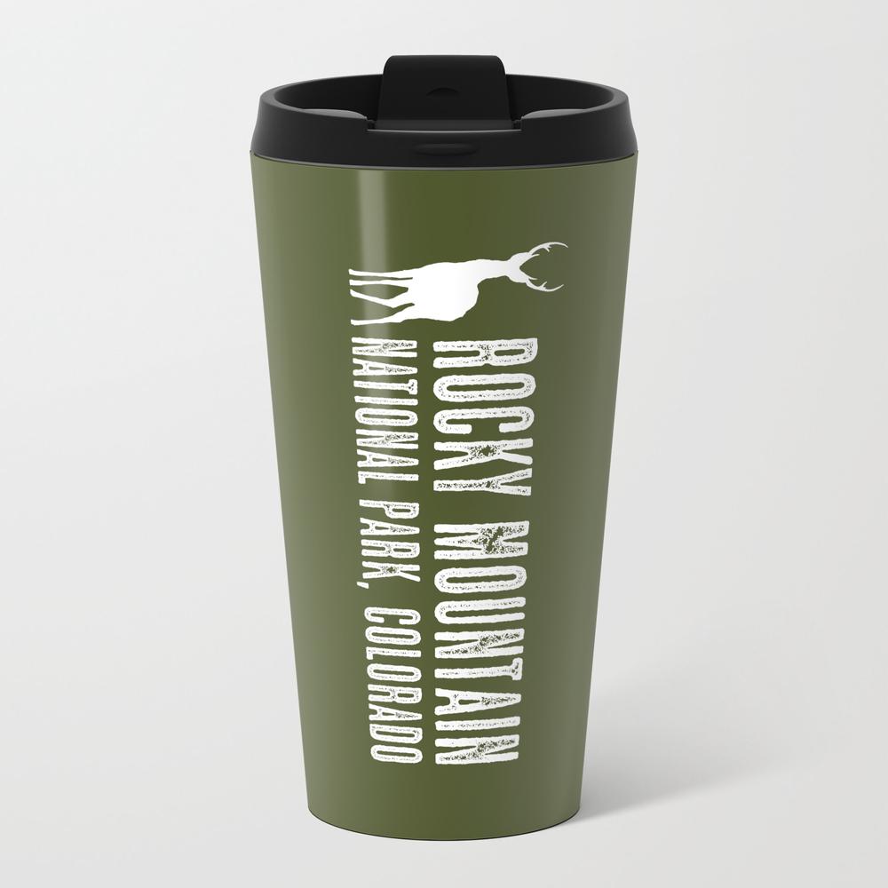 Deer: Rocky Mountain, Colorado Metal Travel Mug by Jsdavies MTM8984035
