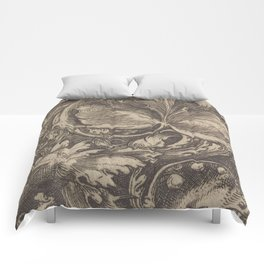 Black and White Paisley Pattern - Date Unknown Comforters