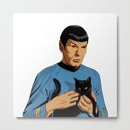 Spock's cat Metal Print