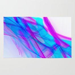 Abstract Calligraphy Aqua and Magenta Rug