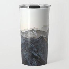 Mountains in Winter Travel Mug