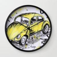 bugs Wall Clocks featuring bugs by sladja