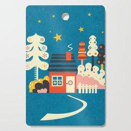 Festive Winter Hut Cutting Board