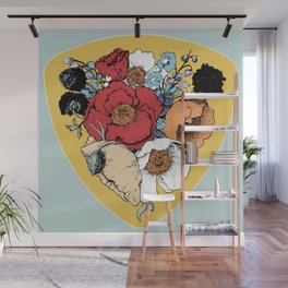 Bouquet Shield Wall Mural