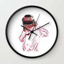 blond Wall Clock