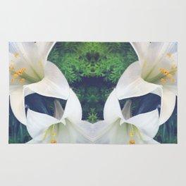 White Lilies Rug
