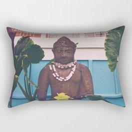 Vintage Kauai Buddha Rectangular Pillow