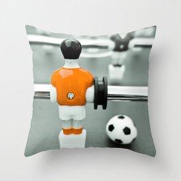 Table Football 02B - Defender - Orange (everyday 30.01.2017) Throw Pillow
