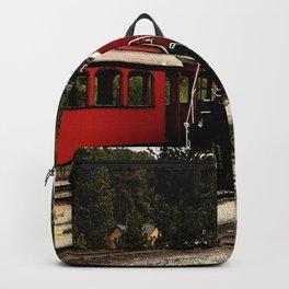 Black Hills Diesel Locmotive # 63 Abstract Backpack