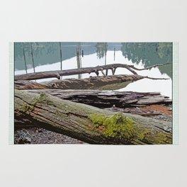 FALLEN TREES ALONG MOUNTAIN LAKE TRAIL Rug