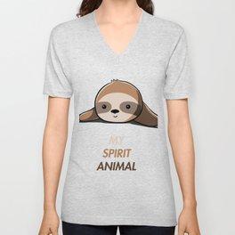 My animal spirit - Sloth Unisex V-Neck