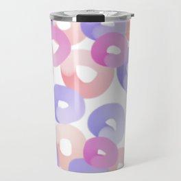 colorful art, round circles, sweet donuts Travel Mug