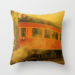 CHRISTMAS STEAM TRAIN Throw Pillow