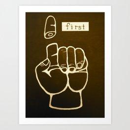 First Art Print