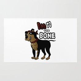 Bad to The Bone - Pit Bull Rug