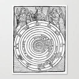 Astrological diagram Canvas Print