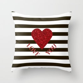 Love you Valentines day Throw Pillow