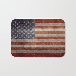 USA flag - Retro vintage Banner Bath Mat