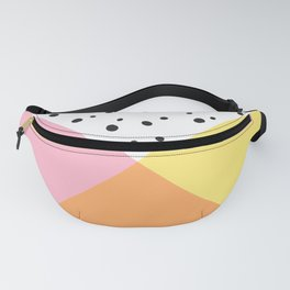 Pink and Yellow Polka Dots Fanny Pack