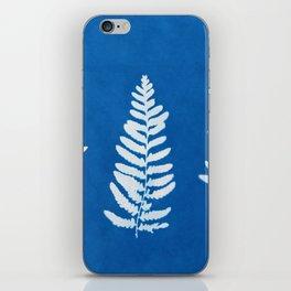 Fern leaf cyanotype ll iPhone Skin