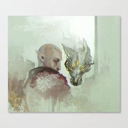 He Walks Alone Canvas Print