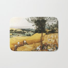 The Harvesters by Pieter Bruegel the Elder, 1565 Bath Mat