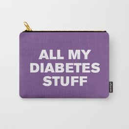 All My Diabetes Stuff™ (Royal Lilac) Carry-All Pouch