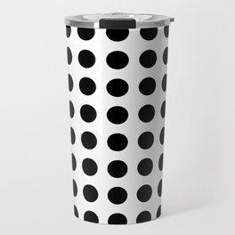 Simply Polka Dots in Midnight Black Travel Mug