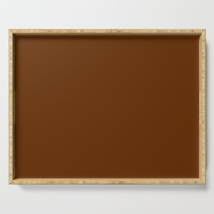 Delirious Place ~ Gingerbread Brown Serving Tray