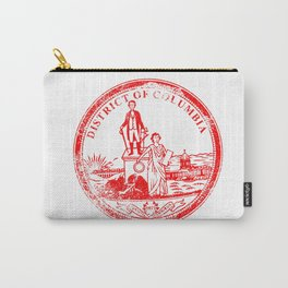 Washington DC Seal Rubber Stamp Carry-All Pouch