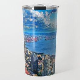 Seattle Skyline from The Space Needle Travel Mug
