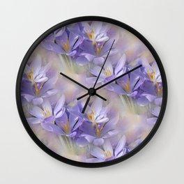 flowers -3- seamless pattern Wall Clock