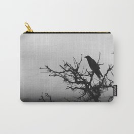 A Raven in Fog Carry-All Pouch