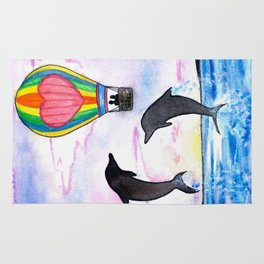 Leave this world with me (dolphin) Rug