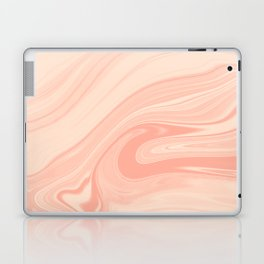 Marble Pink Orange Salmon Liquid Marble Texture Laptop & iPad Skin