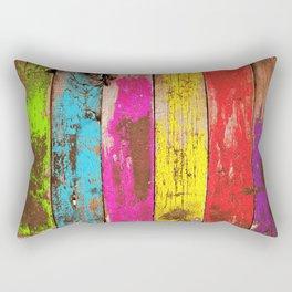 Vintage Colored Wood Rectangular Pillow