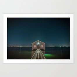 The Boat House 3 Art Print