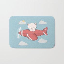 Kawaii Cute Flying Cat Bath Mat