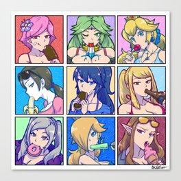 SSB4 Girls - Summer Munchies Canvas Print